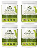 Dog Greens Organic Plant-Based Supplement for Skin, Coat, Digestive & Immune Health in Dogs (12 oz); Natural, Holistic and Vet Approved, Add to Dog Food, Homemade Dog Food, Raw Dog Food, Vegan, 4 Pack