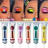 BELLESKY Matte Eyeshadow Cream Set 6 Colors High-pigmented Liquid Eyeshadow Longlasting Waterproof & Smudgeproof Eyeshadow for Makeup Artist or Makeup Lover (6PCS-B)