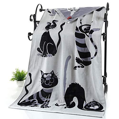 Baumwolle Gaze Erwachsene Cartoon Handtuch Badetuch Textil große dicke Handtuch Hotel Bademantel Strandtuch Schal Kinder Decke-C