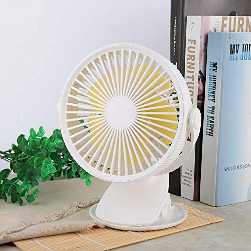Draagbare zomer koeler Mini USB oplaadbare ventilator Airconditioner Koelventilator Klein Persoonlijk voor buiten Kantoor Thuis Camping Reizen(Wit)