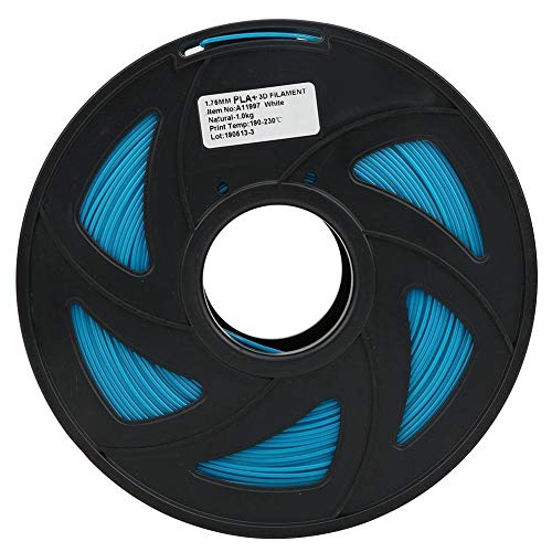 Impresora 3D Filamento 1.75mm 1KG PLA Impresión de alambre Impresora de filamento Suministros Material de impresión de filamento largo Accesorios de impresora 3D, azul cielo