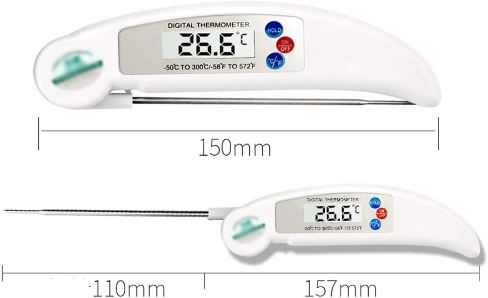 ZHongWei - thermopop Lebensmittel-Thermometer, Öltemperatursonde Nadel, Faltbare Haushalt Wasser-Thermometer, Lebensmittel Flüssigkeit Thermometer, 4 Farben Küche (Color : C) D