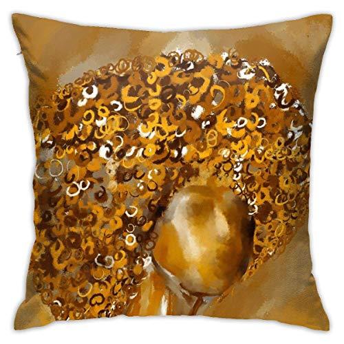 YHKC Cojín de Suelo de Pelo Rizado de Cobre, cojín de Coche, sofá, Funda de Almohada, decoración