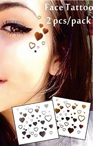 Tatouage Métalliques de visage Tatouages Flash Bijoux de Visage f02 Convient pour les fêtes, spectacles, concerts, performance scénique.