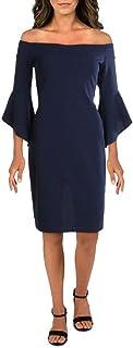 bebe Women's Off The Shoulder w/Flowy Sleeve Dress