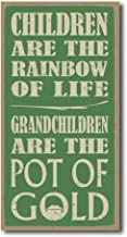 Tamengi Children are The Rainbow of Life. Grandchildren are The Pot of Gold Rustic Wood Wall Art Home Family Decoration Design Plank Plaque Sign 5