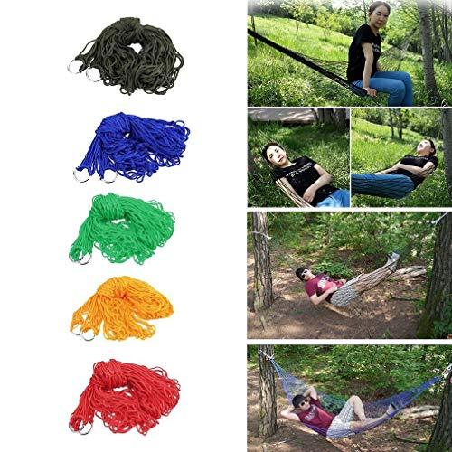 Columpio interior al aire libre columpio adultos niños grueso tela de nylon hamaca de malla red colgar fuerte cuerda para viajes camping playa swing