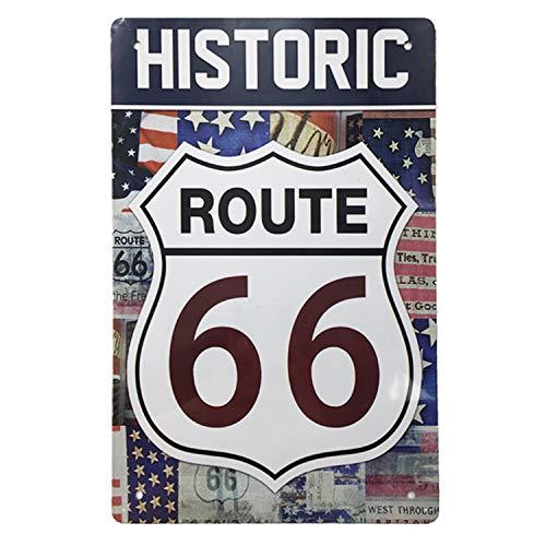 AIQIBAO Letrero de metal vintage para decoración de la ruta histórica 66 para la película, casa, bar, pub, divertido cartel de arte de pared, 30,5 x 20,3 cm