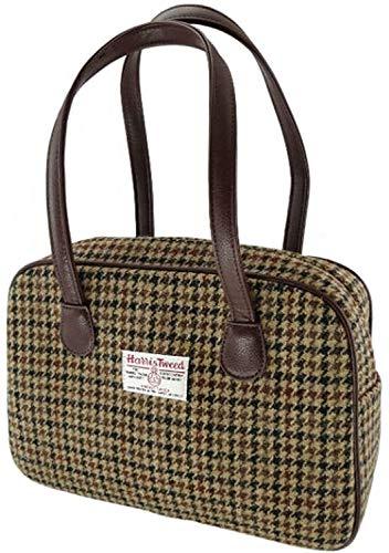 Harris Tweed Damen Braun Dogtooth quadratisch Handtasche lb1005col27 Gr. One Size, braun