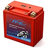 Lithium Motorcycle Battery, YTX14-BS 12V Lithium Battery with Smart Battery Management System, LiFePO4 Engine Start Battery8AH 520 CCAStarting Batteries for Motorcycles and ATVs-DLF14-BS