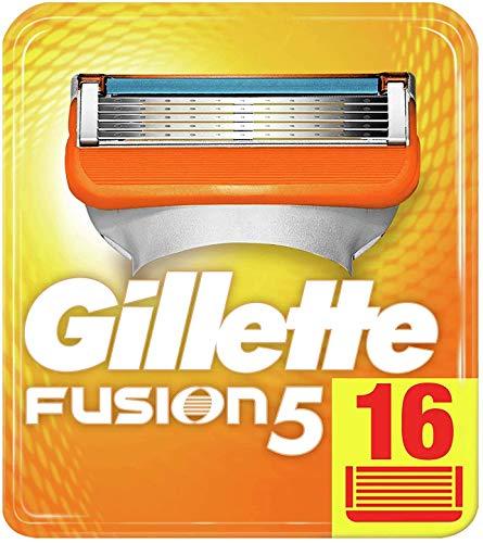 Gillette Fusion 5 Rasierklingen mit Trimmerklinge für Präzision und Gleitbeschichtung, 16 Ersatzklingen