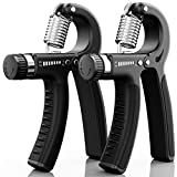 ALMAH Hand Grip Strengthener (2pack), Grip Strength Trainer, Hand...