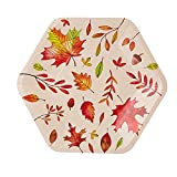 Fall Leaves Paper Plates for Thanksgiving Party (9 In, 50 Pack)