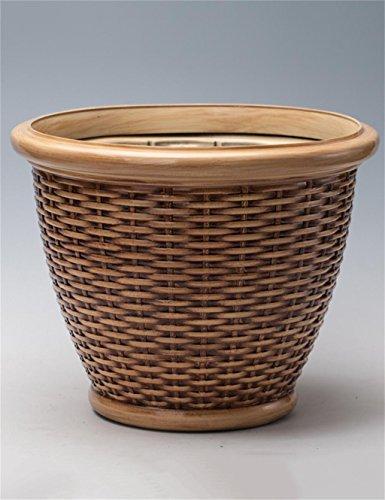 XYZ Tessitura Pentole Giardinaggio Piantare, Rattan Pentole, plastica, vasi da fiori, piante Holder delicato durevole ( colore : Giallo , dimensioni : 45*40cm )