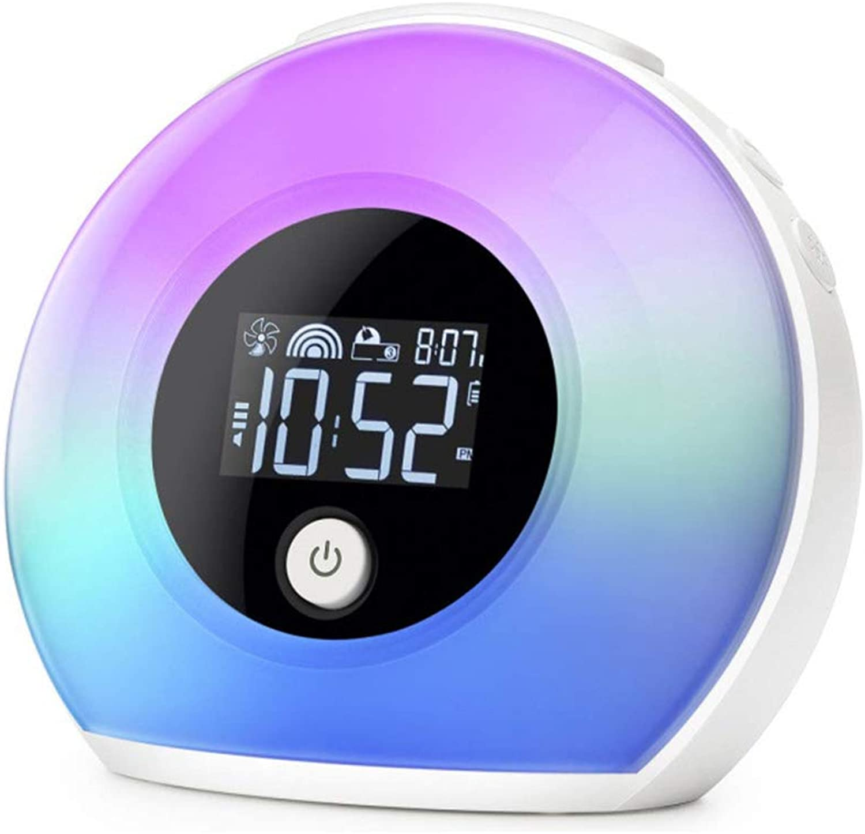 LIQIN Sveglia Sveglia Coloreeata Altoparlante blutooth Wireless Multidivertimentozione Sveglia a LED Atmosfera Sonno Lampada da Comodino divertimentozione Touch Snooze