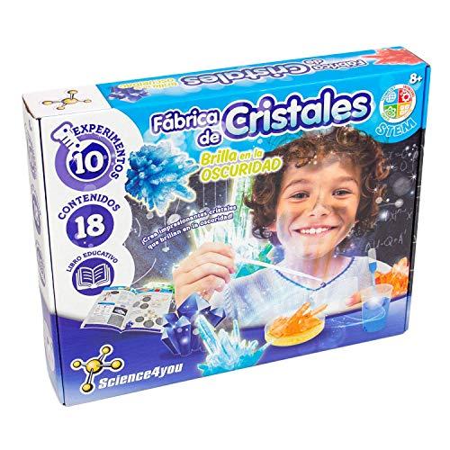 Science4you-Fábrica de Cristales, Brilla en la Oscuridad, Multicolor (5600983608689) , color/modelo surtido