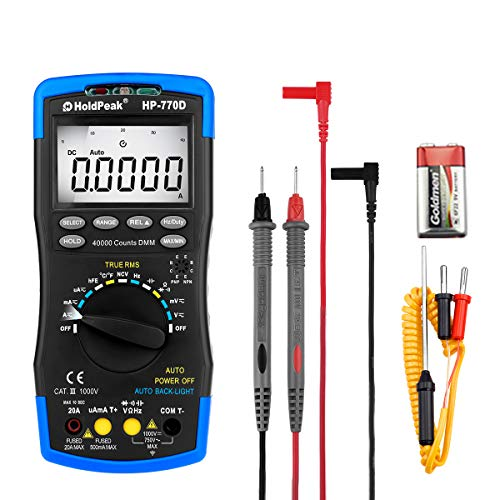 Find Bargain HoldPeak Digital Multimeter Auto Ranging HP-770D Clamp Meter hFE Testing DC/AC Voltage,...