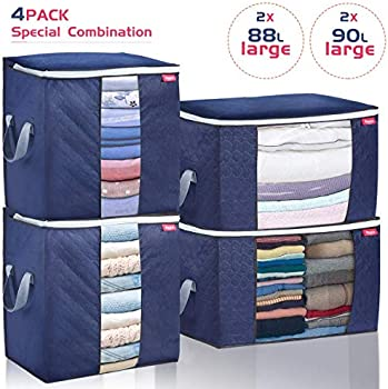 4-Pack Joyxeon Closet Organizer Clothes Storage Bags