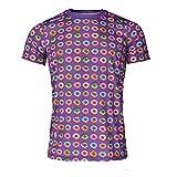Luanvi Camiseta de Manga Corta Estampado Rosquillas Edición 2019, Hombre, Multicolor, M