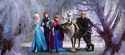 1art1 Die Eiskönigin - Charaktere, Olaf, Sven, Anna, Kristoff, ELSA, Hans Fototapete Poster-Tapete 202 x 90 cm