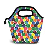 The Very Hungry Caterpillar Abstract Dots Lunch Bag Reutilizable Tote Bag Lonchera aislada