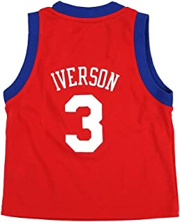 adidas Allen Iverson Philadelphia 76ers NBA Toddler Red Official Road Replica Basketball Jersey