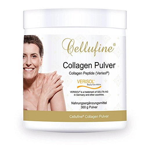 CELLUFINE Premium Collagen Pulver 300 g I Beauty Kollagen Pulver mit VERISOL Collagen Peptiden I natürlich & ohne Konservierungsstoffe