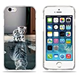 Fubaoda Coque iPhone 6(6s), [Chat Devient Tigre] Ultra Slim TPU Silicone Haute...