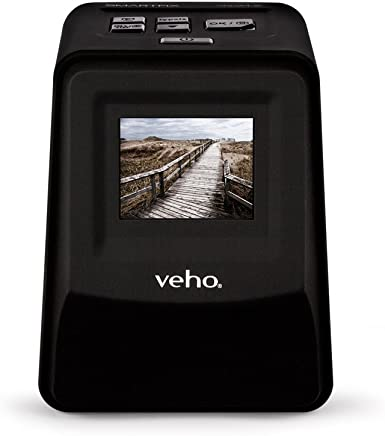 "$96 » Veho Smartfix Portable Stand Alone 14 Megapixel Negative Film & Slide Scanner with 2.4"" Digital Screen and 135 Slider Tray for 135/110/126 Negatives Compatible with Mac/PC – Black (VFS-014-SF)"