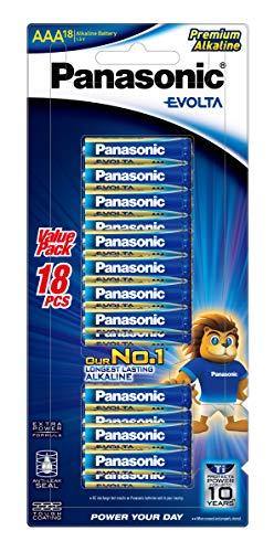 Panasonic AAA Evolta Premium Alkaline Batteries, 18-Pack (LR03EG/18B)