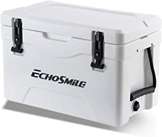 EchoSmile 30 Quart Rotomolded Cooler, Portable Ice Chest Cooler with Durable Handles, Great Gift for Outdoor Golf, Camping, Picnic, Sea Fishing (36-Can Capacity)