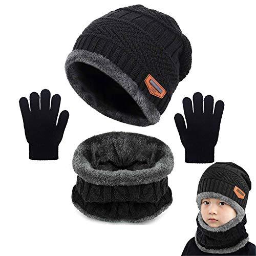 Yutdeng Niños Conjunto de Sombreros de Invierno y Bufanda Guantes Invierno Caliente...
