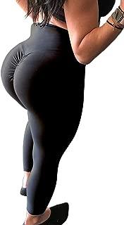 Women's High Waist Back Ruched Legging Butt Lift Yoga Pants Hip Push Up Workout Sport Fitness Gym