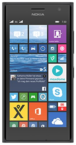 Nokia Lumia 730 Smartphone (4,7 Zoll (11,9 cm) Touch-Display, 8 GB Speicher, Windows 8.1) grau