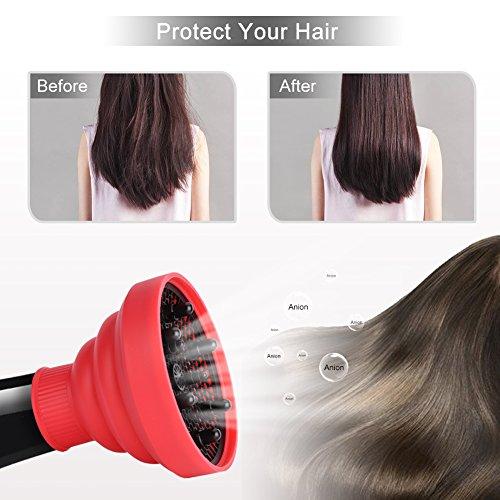 Casco de soplador resistente al calor y plegable, herramienta de peluquería de silicona, difusor de secador de pelo y accesorios