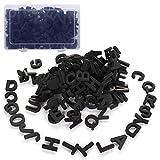 JYCRA Letras magnéticas, 124 imanes de espuma para refrigerador del alfabeto mejor juguete educativo para aprendizaje preescolar, ortografía (negro)