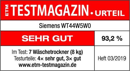 Siemens iQ700 WT44W5W0 iSensoric Premium Wärmepumpentrockner / A+++ / 8 kg / Großes Display mit Endezeitvorwahl / Selbstreinigungs-Automatik / weiß - 6