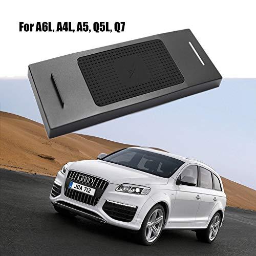 Cargador de coche inalámbrico, soporte de teléfono para Audi A6L10w Qi de carga rápida, compatible con todos los teléfonos con Qi, inducción de 8 mm para Apple iPhone 8/8 Plus/X/XS/Max/XR/Samsung Galaxy et