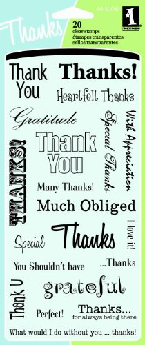 Inkadinkado Thank You Clear Stamp Set, 20 pc