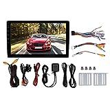 Lettore per auto, 10.1 pollici HD Quad Core 2 Din MP5 Player Radio stereo WIFI Bluetooth GPS per auto(With rear view camera)