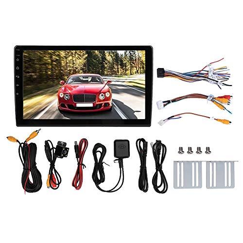 Reproductor de coche, 10.1in HD Quad Core 2 Din MP5 Player Radio estéreo WIFI Bluetooth Coche GPS(With rear view camera)
