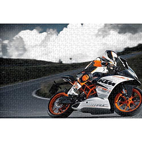 CHDBB Rompecabezas de 1000 Piezas para Adultos KTM Motorcycle Rompecabezas Brillantes y Coloridos Extreme Off-Road Sports Regalo de Rompecabezas de Juguete de Entretenimiento 38x26cm