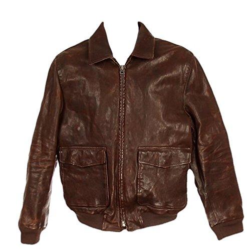 J Crew Men's Leather Flight Jacket Style 17971 Size Medium NWT Brown