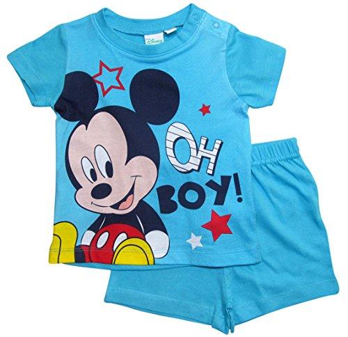 Mickey Mouse Kollektion 2018 Schlafanzug 68 74 80 86 92 Jungen Shorty Pyjama Shortie Disney Maus (Hellblau, 68-74)