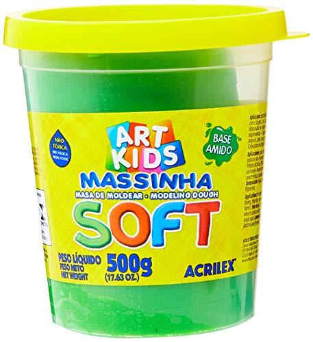 Massa de Modelar Soft Acrilex Verde 500 g