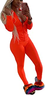 Womens Tracksuit Set - Two Piece Outfits Zip Up Crop Top + Skinny Long Pants Sweatsuits Jogging Suits Jumpsuits