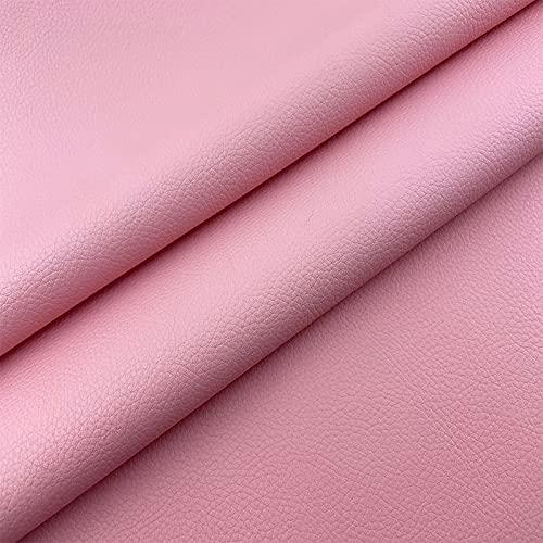 ZSYGFS Tela De Cuero Sintético De Polipiel 160 Cm De Ancho Vendido por Metro para Muebles Sofás Sillas Manualidades(Color:Rosado Rojo)