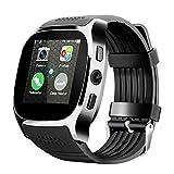 ZEIYUQI 1.54 Zoll Smart Watch Männer Sport Bluetooth SIM SIM-Karte Kamera Schlafmonitor SchrittzäHler SmartWatch Antwort Anrufuhr,Black