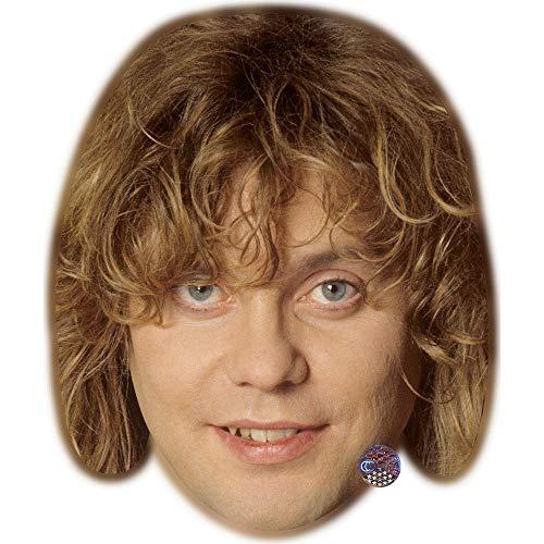 Celebrity Cutouts Rick Savage (Young) Maske aus Karton
