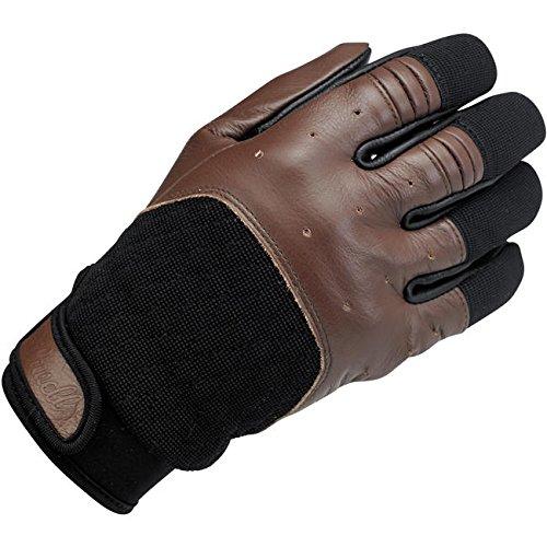 Handschuhe Gloves Leder Bantam Chocolate/Black Biltwell Herren Motorrad Biker Custom M schwarz / braun